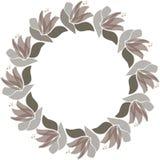 Vector bloemencirkelkader Skandinavische stijlillustratie royalty-vrije illustratie