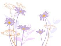 Vector bloemenelementen Stock Afbeelding