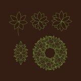 Vector bloemenelementen Vectordruk voor Natuurlijke Producten Royalty-vrije Stock Afbeelding