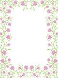 Vector bloemenframe Royalty-vrije Stock Fotografie