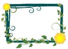 Vector BloemenFrame Royalty-vrije Stock Foto's