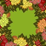 Vector bloemenframe Stock Foto