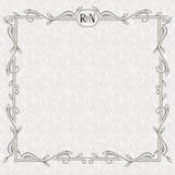 Vector bloemengrens met exemplaarruimte Overladen kader op het lichte naadloze patroon Royalty-vrije Stock Foto's