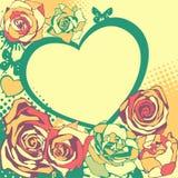 Vector bloemenhart voor valentijnskaartendag stock illustratie