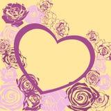 Vector bloemenhart voor valentijnskaartendag royalty-vrije illustratie