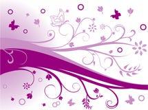 Vector bloemenillustratie Royalty-vrije Stock Afbeelding