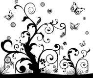Vector bloemenillustratie Stock Fotografie