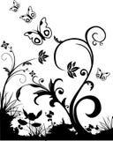 Vector bloemenillustratie Royalty-vrije Stock Fotografie