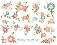 Vector bloemeninzameling Royalty-vrije Stock Foto
