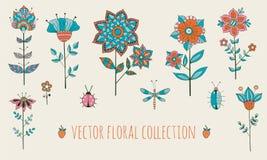 Vector bloemeninzameling Royalty-vrije Stock Fotografie