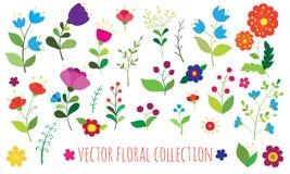 Vector bloemeninzameling Stock Fotografie
