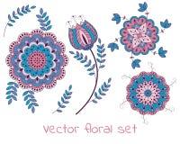 Vector bloemeninzameling Stock Foto