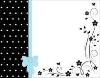 Vector bloemenkaart royalty-vrije illustratie