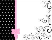 Vector bloemenkaart stock illustratie