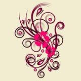 Vector bloemenontwerp Royalty-vrije Stock Foto