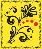 Vector bloemenornament met een decoratief frame. Royalty-vrije Stock Foto