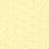Vector bloemenpatroon op een beige achtergrond Royalty-vrije Stock Afbeelding
