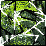 Vector bloemenpatroon tropische bladeren naadloze achtergrond Royalty-vrije Stock Afbeelding