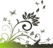Vector bloemensamenstelling Royalty-vrije Stock Fotografie