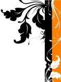 Vector BloemenSilhouet Desig Royalty-vrije Stock Foto's