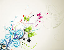 Vector bloemillustratie Stock Foto's