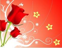 Vector bloemillustratie Royalty-vrije Stock Foto's