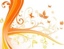 Vector bloemillustratie Stock Afbeelding