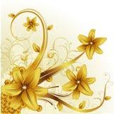 Vector bloemillustratie Stock Afbeeldingen