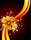 Vector bloemillustratie Royalty-vrije Stock Fotografie