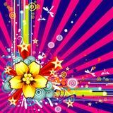 Vector bloemillustratie Royalty-vrije Stock Foto