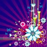 Vector bloemillustratie Royalty-vrije Stock Afbeelding