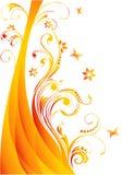 Vector bloemillustratie Royalty-vrije Stock Afbeeldingen