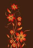 Vector bloemontwerp Stock Afbeelding