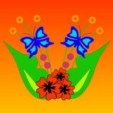 Vector bloemontwerp Royalty-vrije Stock Afbeelding