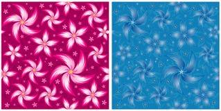 Vector bloempatroon Stock Afbeeldingen