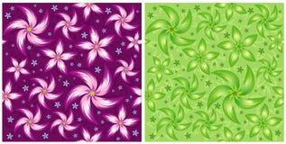 Vector bloempatroon Stock Fotografie