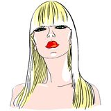 Vector blond girl Royalty Free Stock Photo