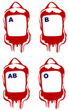 Vector blood bag Royalty Free Stock Photos
