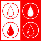Vector blood drop icon Royalty Free Stock Photography
