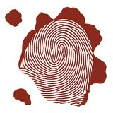 Vector blood fingerprint Stock Image