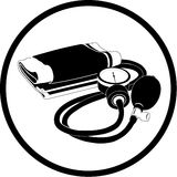 Vector blood pressure icon. Black and white. Simply change Stock Photo