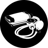 Vector blood pressure icon. Black and white. Simply change Stock Photos