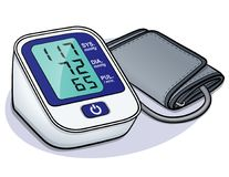 Free Vector Blood Pressure Monitor Design Royalty Free Stock Photography - 124262167