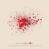 Vector blood splatter isolated, design. EPS10 Royalty Free Stock Photos