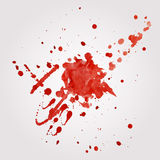 Vector blood splatter Royalty Free Stock Photo