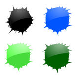 Vector blots. Set of vector blots. Vector illustration Royalty Free Stock Image