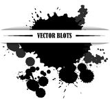 Vector blots. Vector black ink splashes on white background Royalty Free Stock Photography