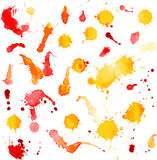 Vector blots and splashes of watercolor paint Royalty Free Stock Images