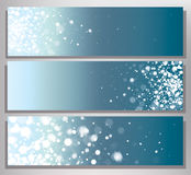 Vector blue abstract banners. Stock Photos