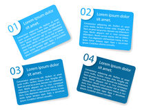 Vector blue angular paper option labels. Set of vector blue angular paper option labels with number of option Royalty Free Stock Photo